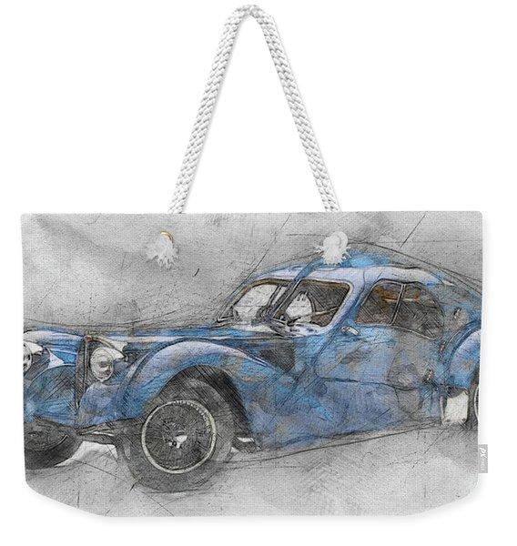 Bugatti Type 57 - Atlantic 1 - 1934 - Automotive Art - Car Posters Weekender Tote Bag