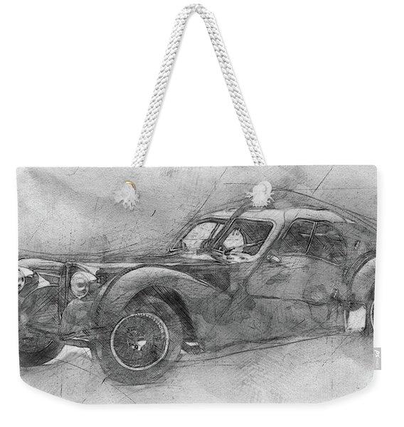 Bugatti Type 57 - Atlantic - 1934 - Automotive Art - Car Posters Weekender Tote Bag