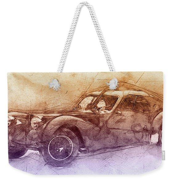 Bugatti Type 57 - Atlantic 2 - 1934 - Automotive Art - Car Posters Weekender Tote Bag