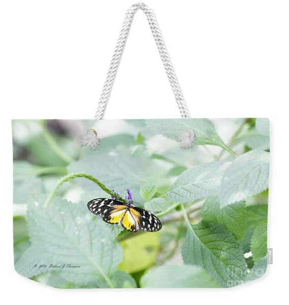 Tiger Butterfly Weekender Tote Bag