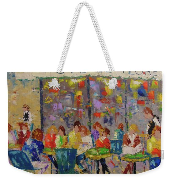 Cafe De Flore Weekender Tote Bag