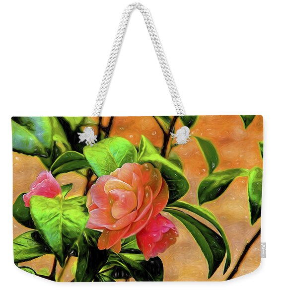 Camellia Candy Weekender Tote Bag