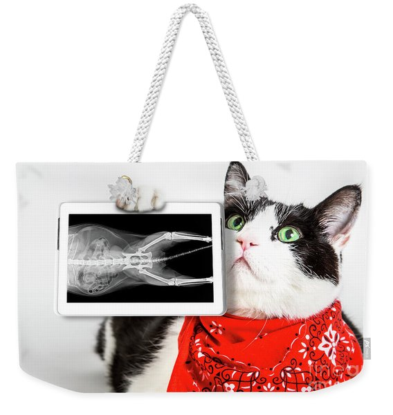 Cat With X Ray Plate Weekender Tote Bag