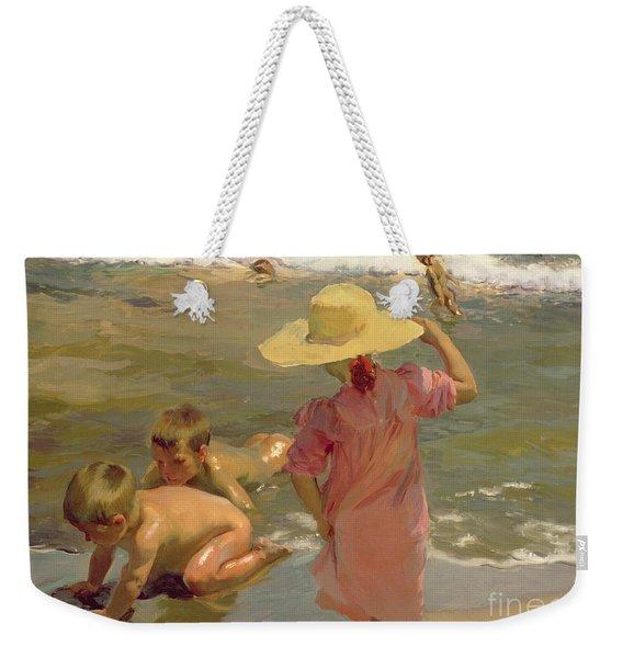 Children On The Seashore Weekender Tote Bag