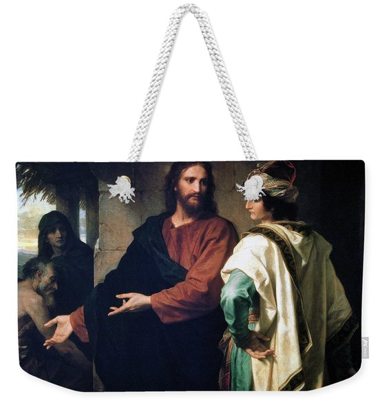 Christ And The Rich Young Ruler Weekender Tote Bag