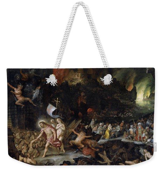 Christ In Limbo Weekender Tote Bag