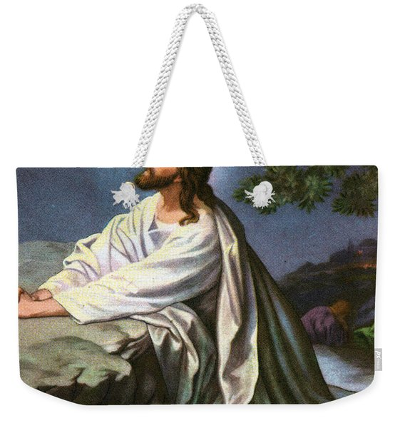 Christ In The Garden Of Gethsemane Weekender Tote Bag