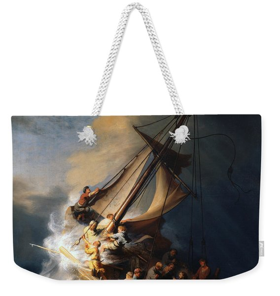 Christ In The Storm On The Lake Of Galilee Weekender Tote Bag