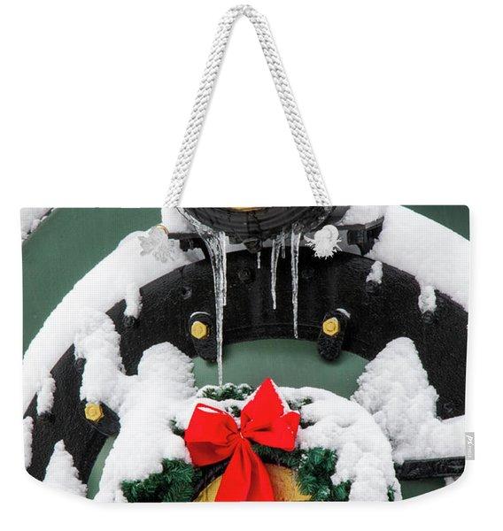 Christmas Train At Pacific Junction Weekender Tote Bag