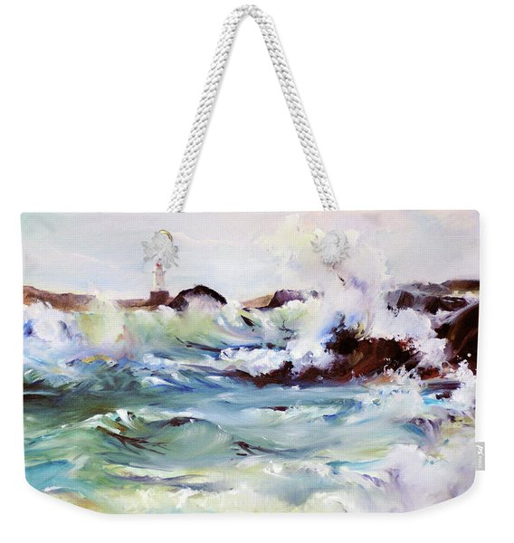 Churning Surf Weekender Tote Bag