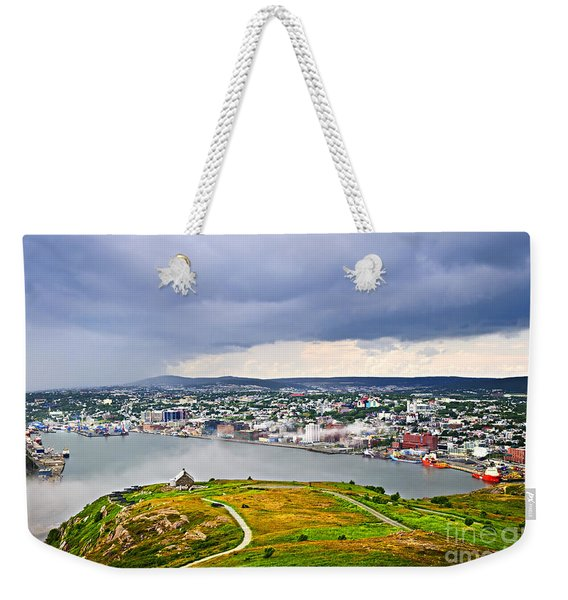 Cityscape Of Saint John's From Signal Hill Weekender Tote Bag