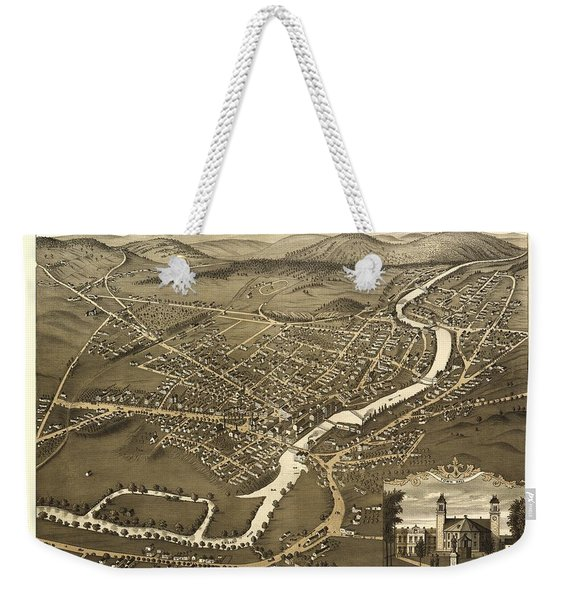 Claremont New Hampshire 1877 Weekender Tote Bag