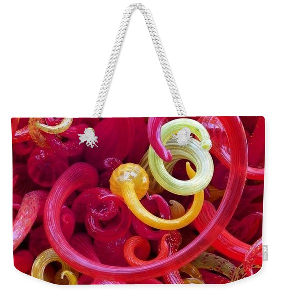 Close-up Of Art Glass By Dale Chihuly Weekender Tote Bag