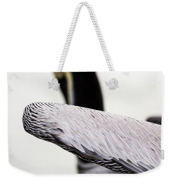 Close-up Of Brown Pelican Weekender Tote Bag