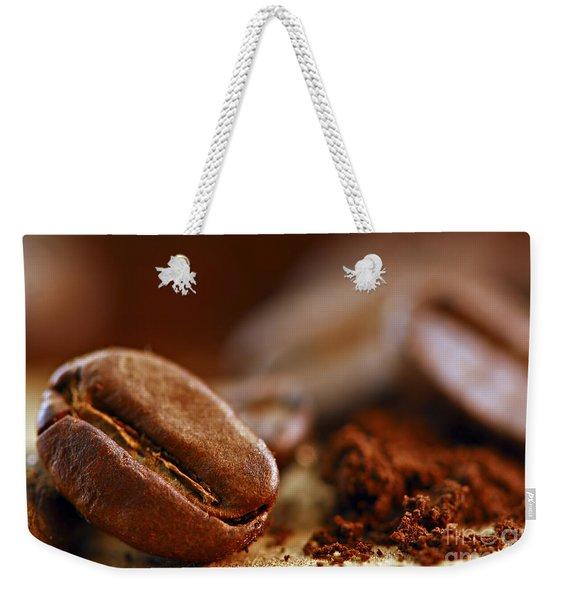 Coffee Beans And Ground Coffee Weekender Tote Bag