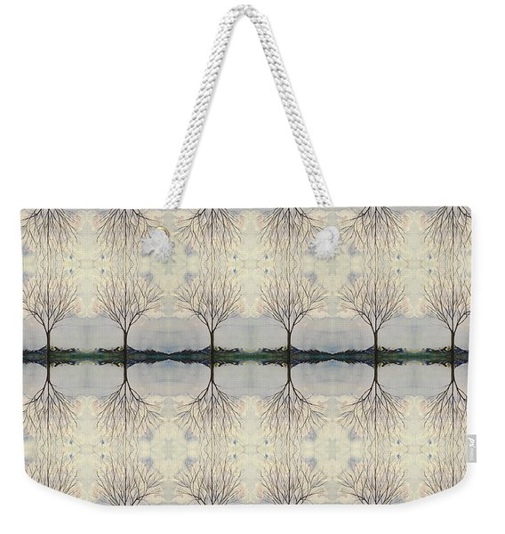 Colorado Cottonwood Tree Mirror Image  Weekender Tote Bag