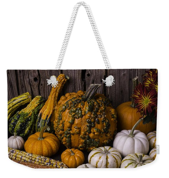Colorful Autumn Still Life Weekender Tote Bag