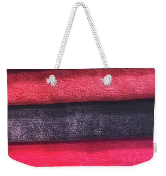 Colorful Fabric Samples Weekender Tote Bag