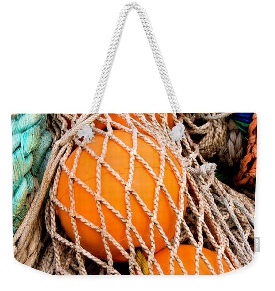 Colorful Fishing Nets And Buoys Weekender Tote Bag