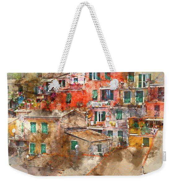 Colorful Homes In Cinque Terre Italy Weekender Tote Bag