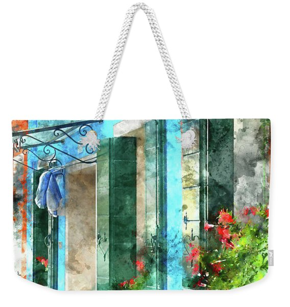 Colorful Houses In Burano Island Venice Italy Weekender Tote Bag