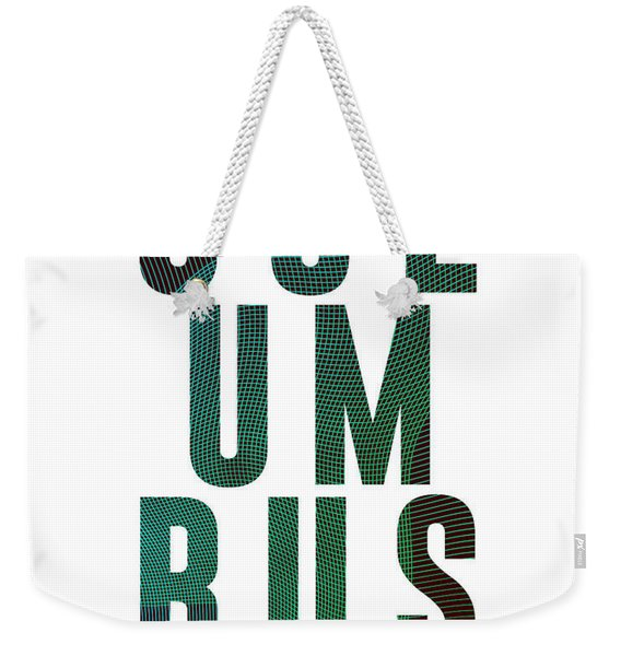 Columbus, United States Of America - City Name Typography - Minimalist City Posters Weekender Tote Bag