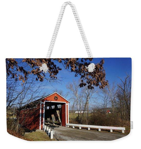 Covered Bridge Weekender Tote Bag