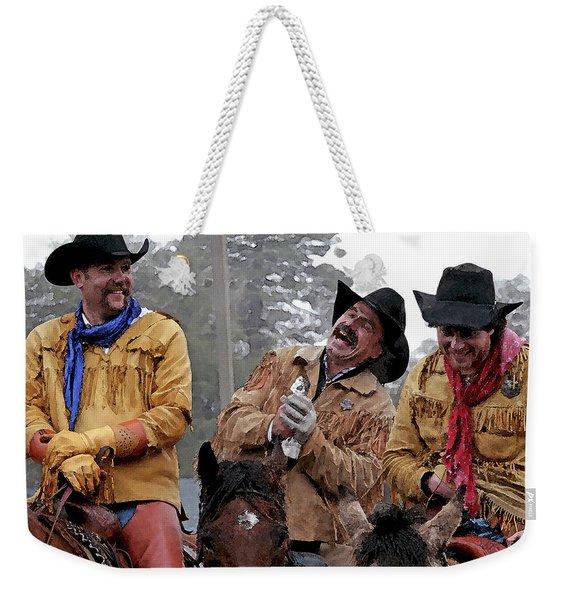 Cowboy Humor Weekender Tote Bag