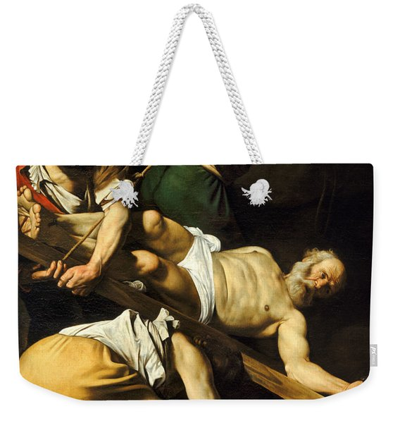 Crucifixion Of Saint Peter Weekender Tote Bag