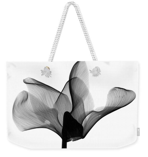 Cyclamen Flower X-ray Weekender Tote Bag