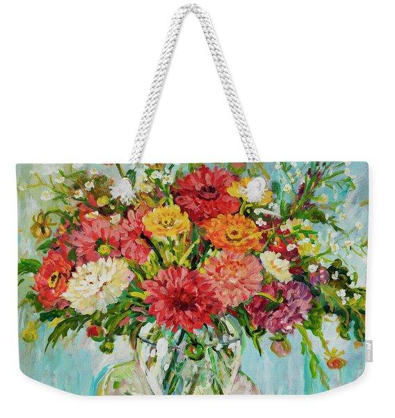 Dahlias Weekender Tote Bag