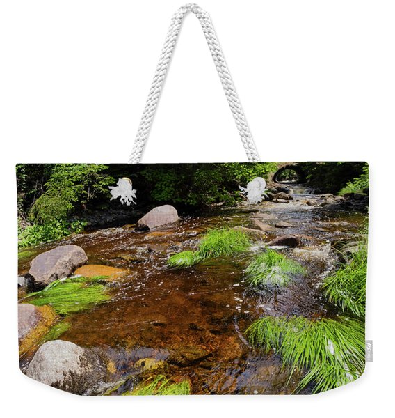 Weekender Tote Bag featuring the photograph Dallas Plantation Near Rangeley, Maine   -63308-63310 by John Bald