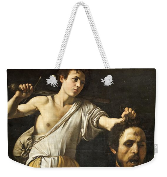 David With The Head Of Goliath Weekender Tote Bag