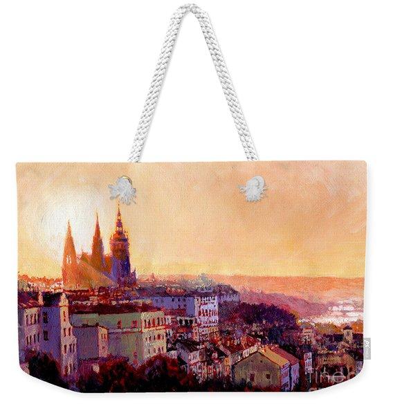 Sundown Over Prague Weekender Tote Bag