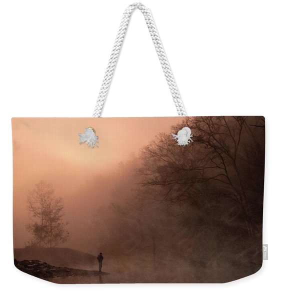 Dawn On The Lower Mountain Fork River Weekender Tote Bag