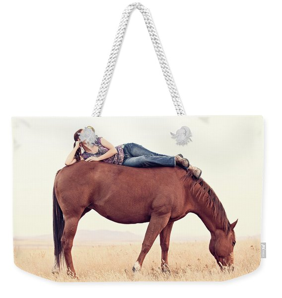 Daydreaming On A Horse Weekender Tote Bag