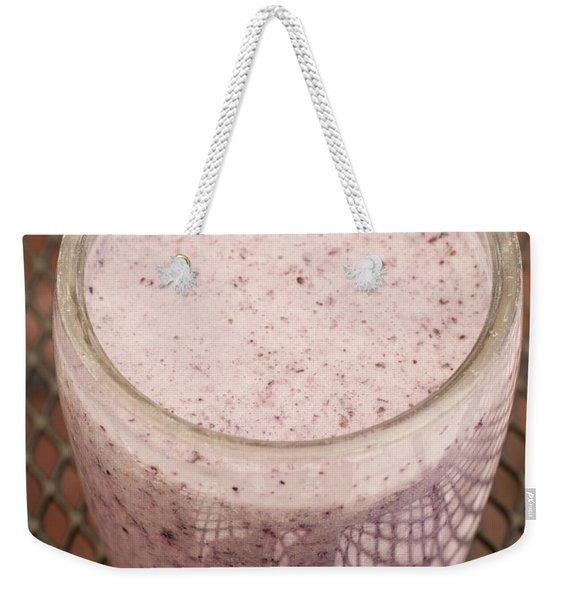 Delicious Blueberry Smoothie Weekender Tote Bag