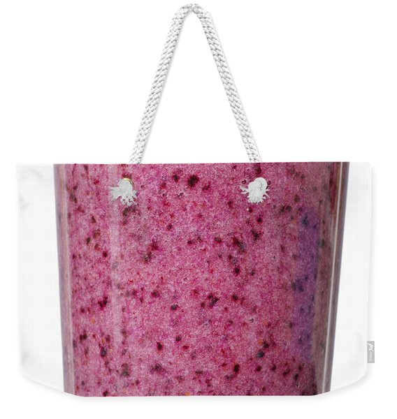 Delicious Blueberry Smoothie Isolated On White Weekender Tote Bag