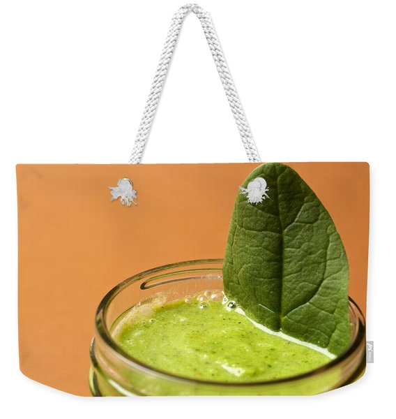 Delicious Spinach Smoothie Weekender Tote Bag