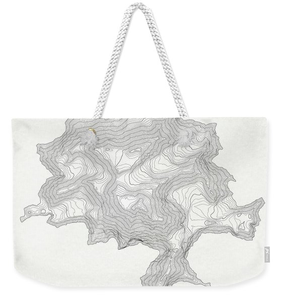 Denali Art Print Contour Map Of Denali In Alaska Weekender Tote Bag
