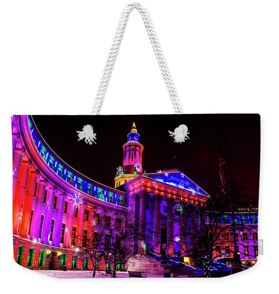 Denver City And County Building Holiday Lights Weekender Tote Bag