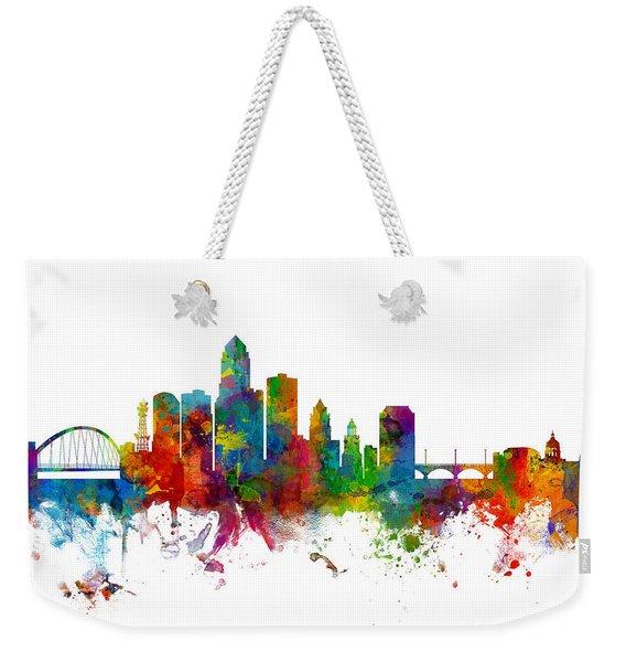 Des Moines Iowa Skyline Weekender Tote Bag