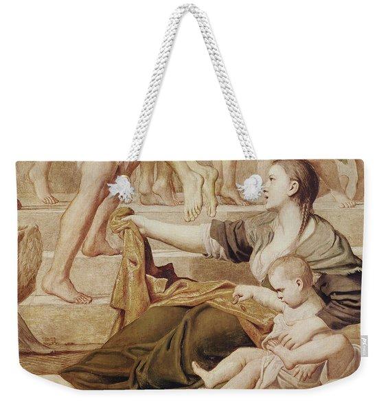 Detail Of Saint Cecilia Distributing Alms Weekender Tote Bag