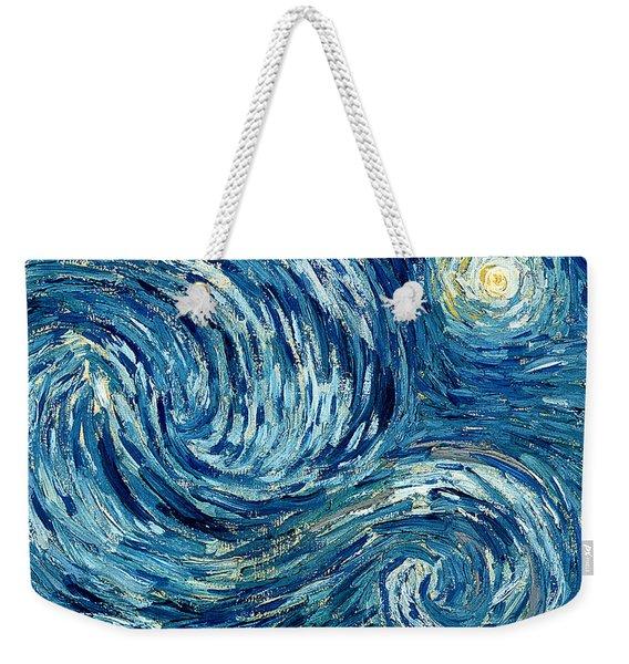 Detail Of The Starry Night Weekender Tote Bag