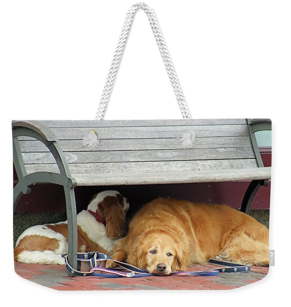 Dog Daze Weekender Tote Bag