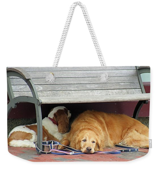 Dog Daze Weekender Tote Bag