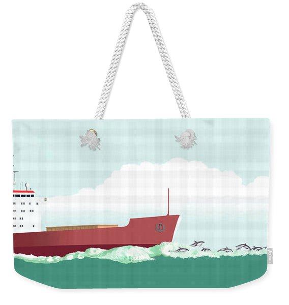 Dolphin Dance Weekender Tote Bag