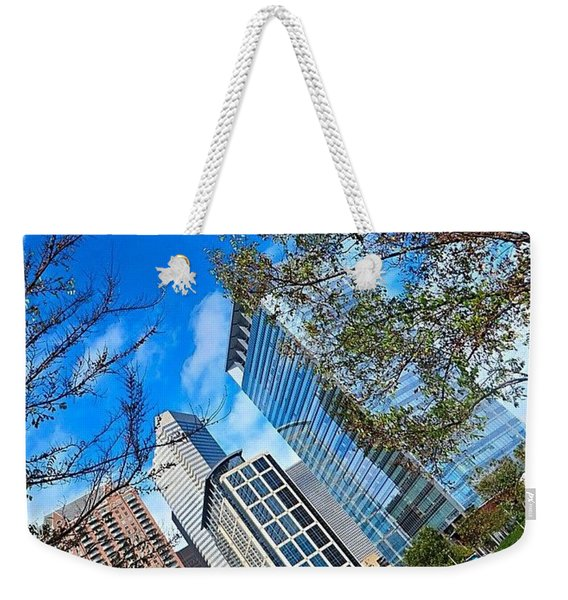 #downtown #houston On A #beautiful Weekender Tote Bag