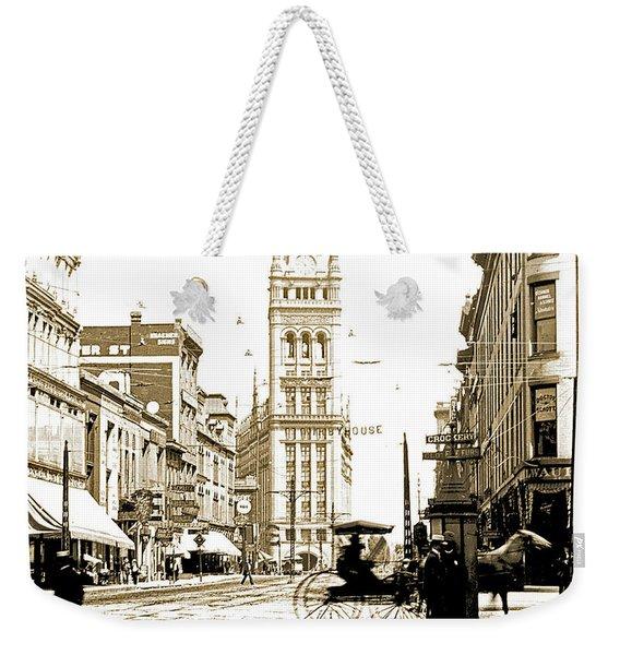 Downtown Milwaukee, C. 1915-1920, Vintage Photograph Weekender Tote Bag