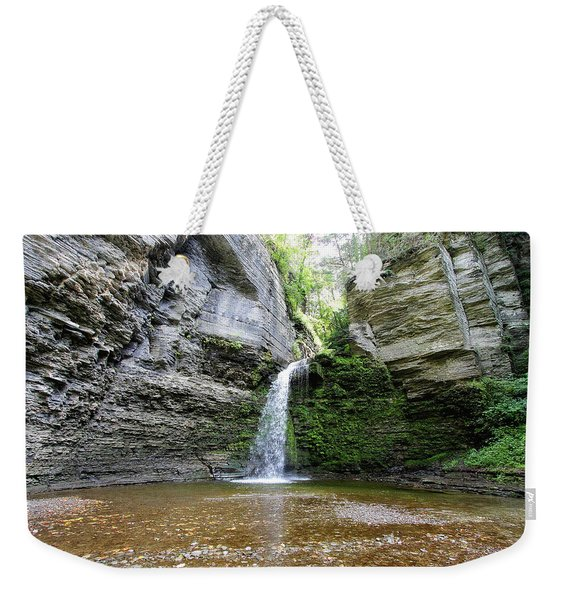 Eagle Cliff Falls In Ny Weekender Tote Bag